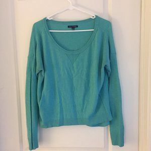 Teal American Eagle scoop neck sweater